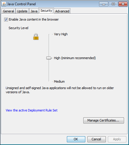Java Deployment Rule Set Import Cert1